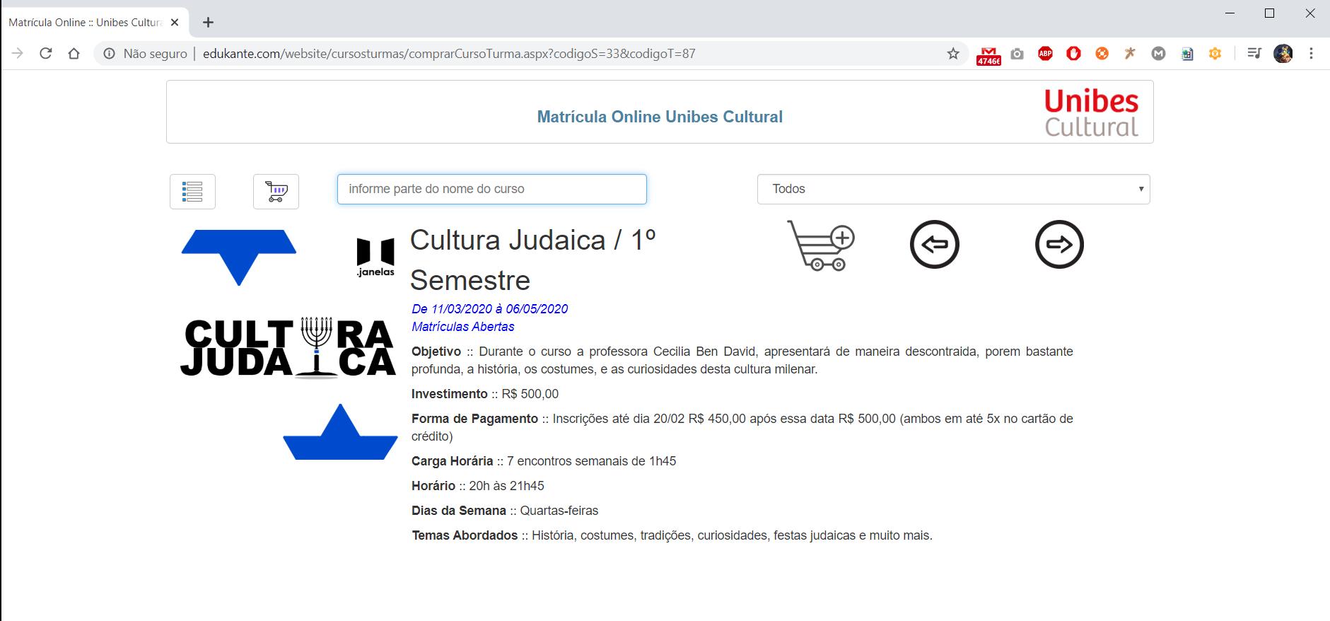 Software para Gestão de Matrículas Online