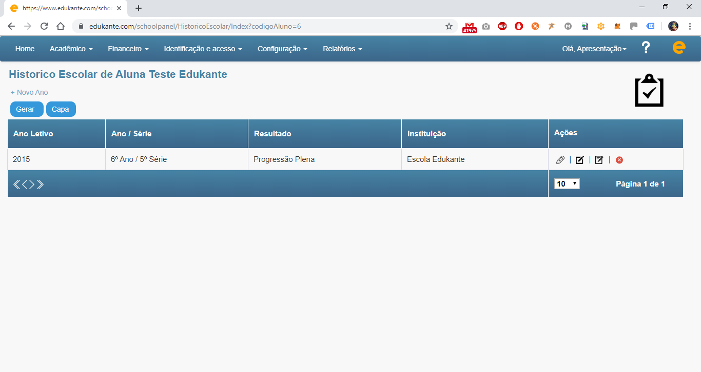 Software para Cursos e Escolas - Histórico Escolar