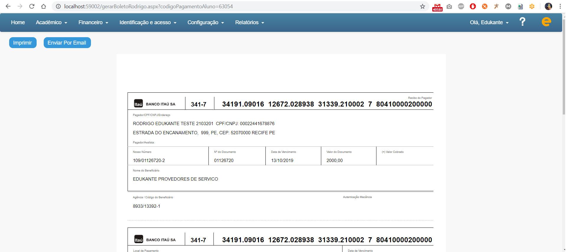 Software Gestão Escolas Cursos e Faculdades Dispensa Uso de Arquivos de Remessa e Retorno para Boletos Bancários