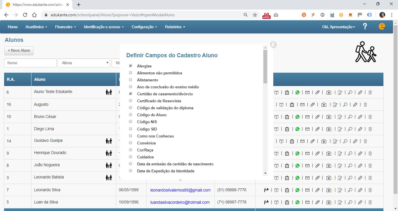 Software Escolar, Controle Acadêmico, Gestão de Alunos