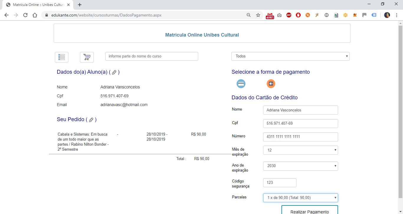 Software para Gestão de Matrículas Online - Pagamento Online