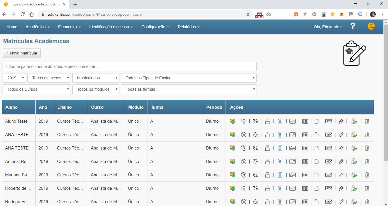 Software de Gestão para Cursos, Escolas e Faculdades - Matrículas Acadêmicas