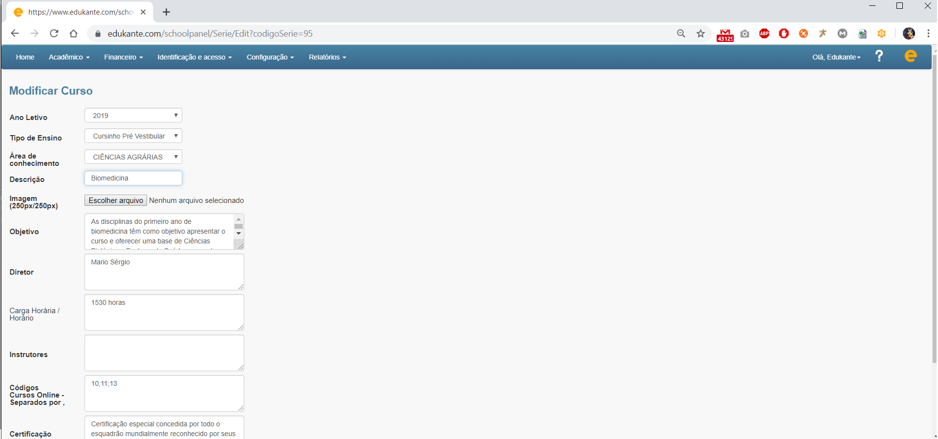 Software para Matrículas Online
